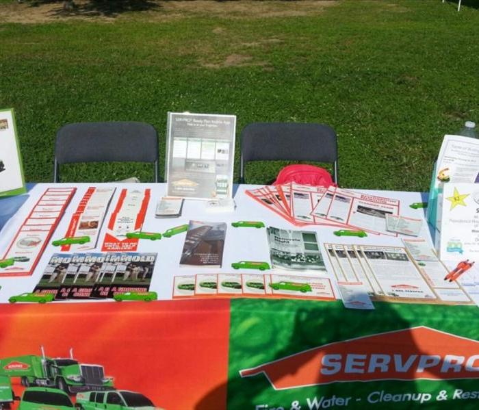 SERVPRO Marketing Table